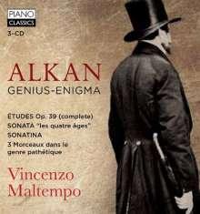 Charles Alkan (1813-1888): Etudes op.39 Nr.1-12, 3 CDs