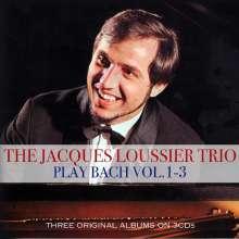 Jacques Loussier (1934-2019): Plays Bach 1 - 3, 3 CDs