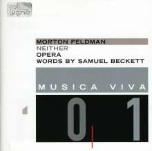Morton Feldman (1926-1987): Neither (Oper), CD