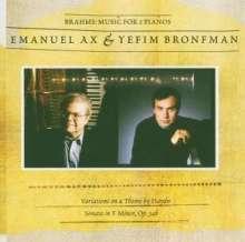 Johannes Brahms (1833-1897): Sonate für 2 Klaviere op.34, CD