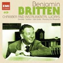 Benjamin Britten (1913-1976): Kammermusik & Klavierwerke, 6 CDs