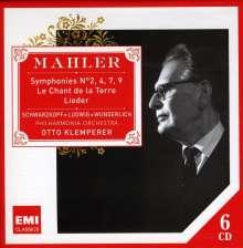 Gustav Mahler (1860-1911): Symphonien Nr.2,4,7,9, 6 CDs