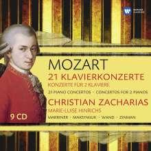Wolfgang Amadeus Mozart (1756-1791): 23 Klavierkonzerte, 9 CDs
