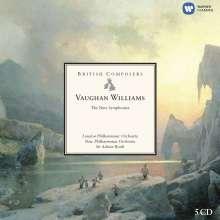 Ralph Vaughan Williams (1872-1958): Symphonien Nr.1-9, 5 CDs