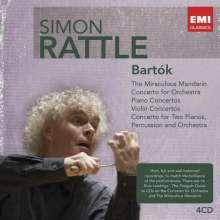 Bela Bartok (1881-1945): Simon Rattle dirigiert Bartok, 4 CDs
