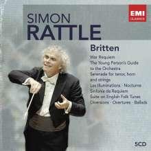 Benjamin Britten (1913-1976): Simon Rattle dirigiert Benjamin Britten, 5 CDs
