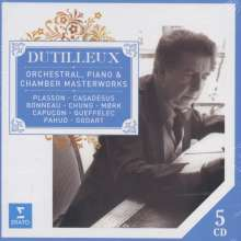 Henri Dutilleux (1916-2013): Orchester-, Klavier- & Kammermusik, 5 CDs