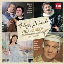 Giuseppe Verdi (1813-1901): Verdi in deutscher Sprache -  Die Electrola-Aufnahmen 1953-1973, 10 CDs