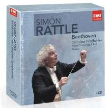 Ludwig van Beethoven (1770-1827): Simon Rattle dirigiert Beethoven, 9 CDs