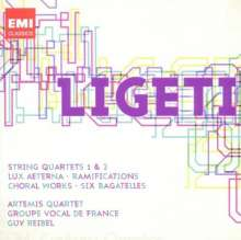György Ligeti (1923-2006): Streichquartette Nr.1 & 2, 2 CDs