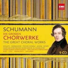 Robert Schumann (1810-1856): Die großen Chorwerke, 9 CDs