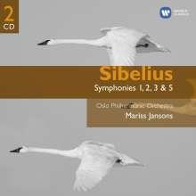 Jean Sibelius (1865-1957): Symphonien Nr.1-3,5, 2 CDs