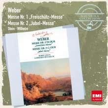 Carl Maria von Weber (1786-1826): Messen Nr.1 & 2 (Es-dur & G-dur op.76), CD