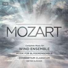 Wolfgang Amadeus Mozart (1756-1791): Serenaden & Divertimenti für Bläser (Gesamtaufnahme), 7 CDs