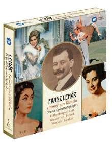 Franz Lehar (1870-1948): Immer nur lächeln - Operettenquerschnitte, 5 CDs