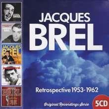 Jacques Brel (1929-1978): Retrospective 1953 - 1962, 5 CDs
