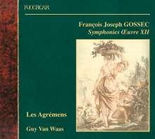 Francois-Joseph Gossec (1734-1829): Symphonien op.12 Nr.1,3,5, CD