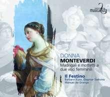 """Claudio Monteverdi (1567-1643): Madrigali e Mottetti a due voci femminili  - """"Donna"""", CD"""