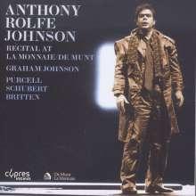 Anthony Rolfe Johnson - Recital At La Monnaie/De Munt, CD