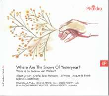 Filharmonie Hradec Kralove - Where Are The Snows Of Yesteryear?, CD