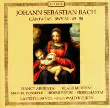 Johann Sebastian Bach (1685-1750): Kantaten BWV 49,58,82, CD