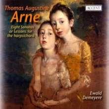 Thomas Arne (1710-1778): Cembalosonaten Nr.1-8, CD