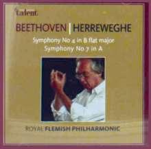 Ludwig van Beethoven (1770-1827): Symphonien Nr.4 & 7, CD