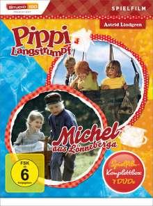 Pippi Langstrumpf / Michel aus Lönneberga (die 7 Spielfilme), 7 DVDs
