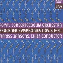 Anton Bruckner (1824-1896): Symphonien Nr.3 & 4, 2 SACDs