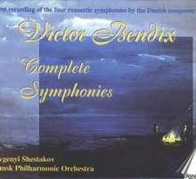 Victor Bendix (1851-1926): Symphonien Nr.1-4 (opp.16,20,25,30), 2 CDs