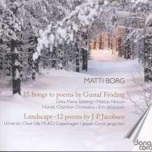 Matti Borg (geb. 1956): 15 Lieder auf Gedichte von Gustaf Fröding, CD