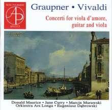 Christoph Graupner (1683-1760): Konzerte für Viola d'Amore & Viola in D & A, CD