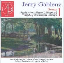 Jerzy Gablenz (1888-1937): Lieder Vol.1, CD