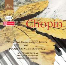 Frederic Chopin (1810-1849): Klavierkonzerte 1+2, CD