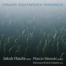 Jakub Haufer & Marcin Sikorski - Strauss/Schostakowitsch/Penderecki, CD