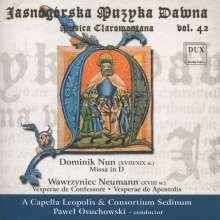 Dominik Nun (ca. 18./19. Jahrhundert): Missa in D, CD