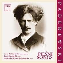 Ignaz Paderewski (1860-1941): Lieder, CD