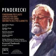 Krzysztof Penderecki (geb. 1933): Konzerte für Bläser und Orchester, CD