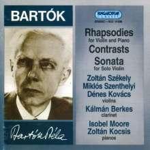 Bela Bartok (1881-1945): Rhapsodies For Violin &, CD