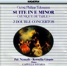 Georg Philipp Telemann (1681-1767): 3 Konzerte für 2 Flöten, CD
