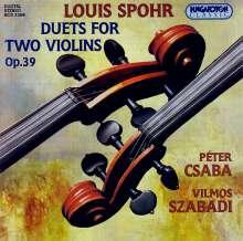 Louis Spohr (1784-1859): Duette f.2 Violinen op.39 Nr.1-3, CD