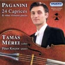 Niccolo Paganini (1782-1840): Capricen op.1 Nr.1-24 für Cello, 2 CDs