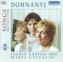 Ernst von Dohnanyi (1877-1960): Sämtliche Lieder, CD