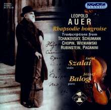 Leopold Auer (1845-1930): Transkriptionen für Violine & Klavier, CD