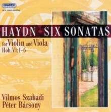 Joseph Haydn (1732-1809): Sonaten f.Violine & Viola H6 Nr.1-6, CD
