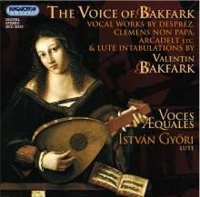 Voces Aequales - The Voice of Bakfark, CD