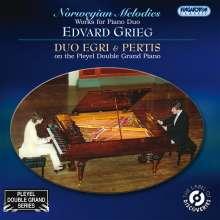 "Edvard Grieg (1843-1907): Klaviermusik 4-händig ""Norwegian Melodies"", CD"