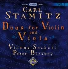 Carl Stamitz (1745-1801): Duos für Violine & Viola op.10 Nr.1 & 2 & op.34 Nr.1-6, CD