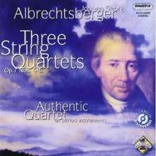 Johann Georg Albrechtsberger (1736-1809): Streichquartette op.7 Nr.4-6, CD