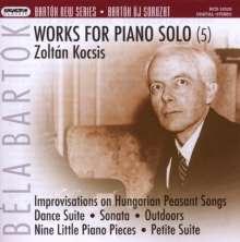 Bela Bartok (1881-1945): Werke für Klavier solo Vol.5, CD